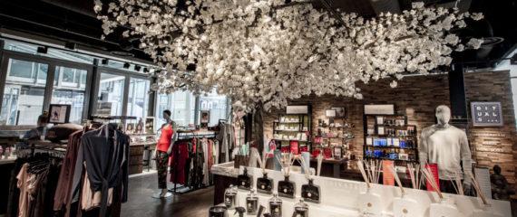 Bedrijfsaankleding zijden bloemstukken